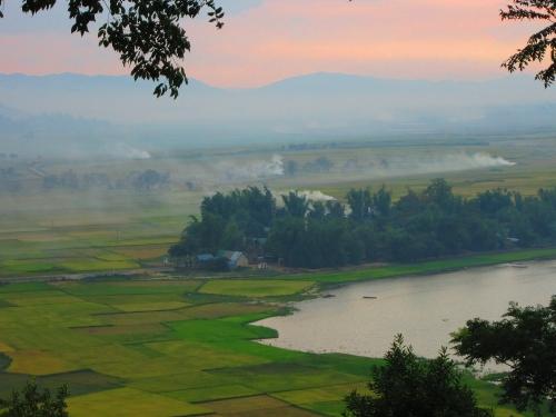 Sunset in Daklak, Vietnam