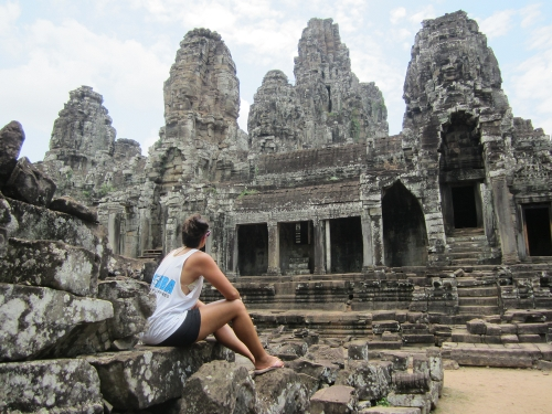 The Bayon Tempel in Angkor