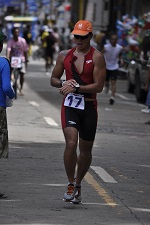 John R�th beim Triathlon in Jagna, Bohol