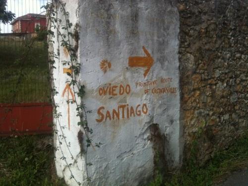 Wegmarkierung Camino Primitivo